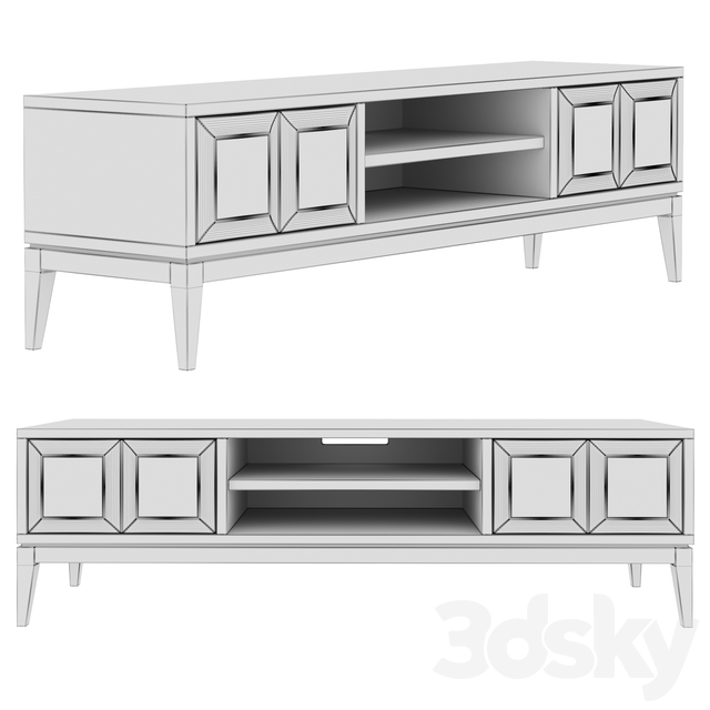 Dantone Home 2-drawer Austin TV Stand