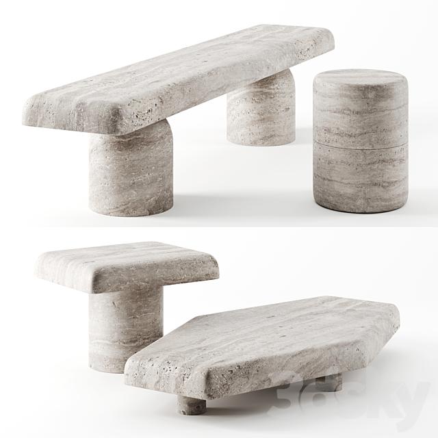 Primitif Collection Tables by Francesco Balzano & Valeriane Lazard