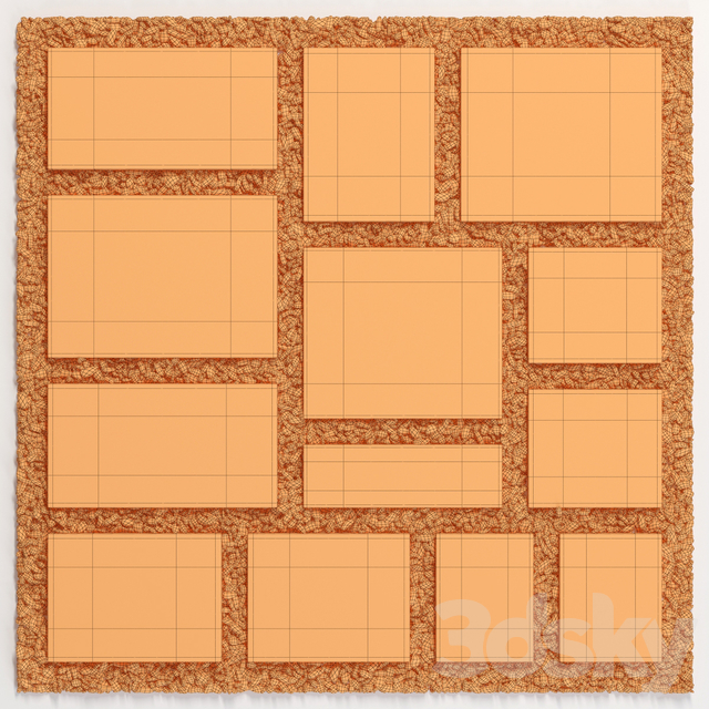 Tile square pebble n8 low