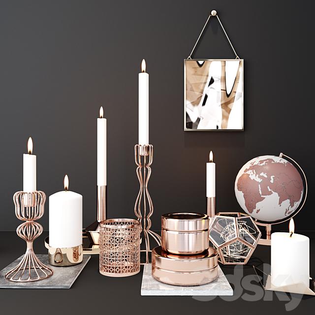 candle deco set