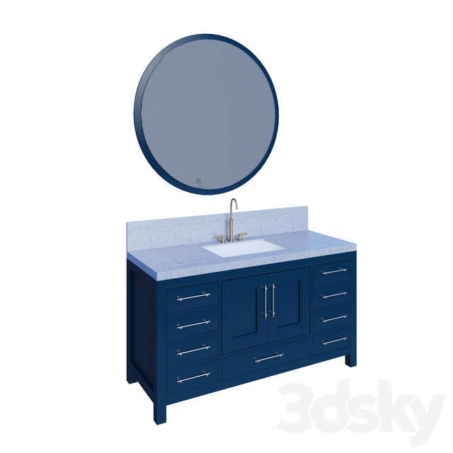 Kendall Blue Bathroom Vanity