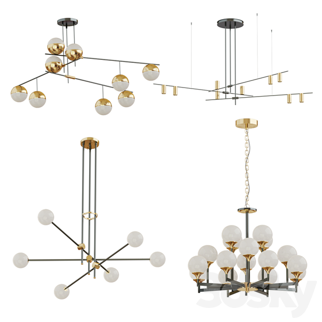 Collection of chandeliers Lampatron