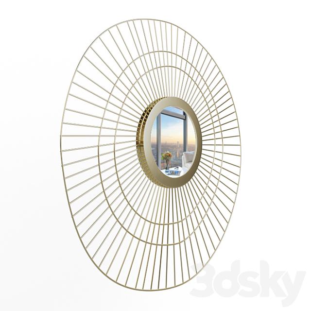 Spyk GFB159 - brass sun-shaped mirror