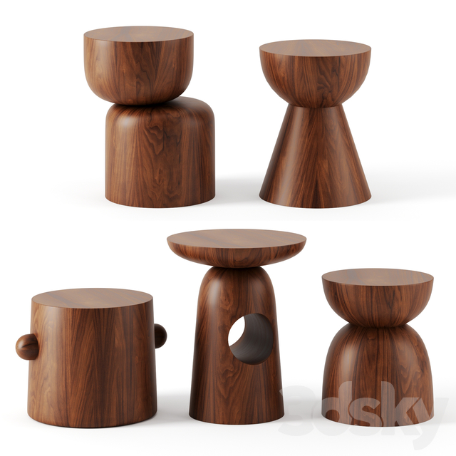 Hew Side Tables by DWR