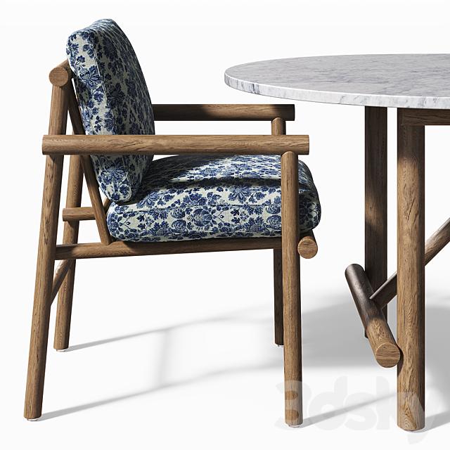 B&B Italia Outdoor Ayana table & chair