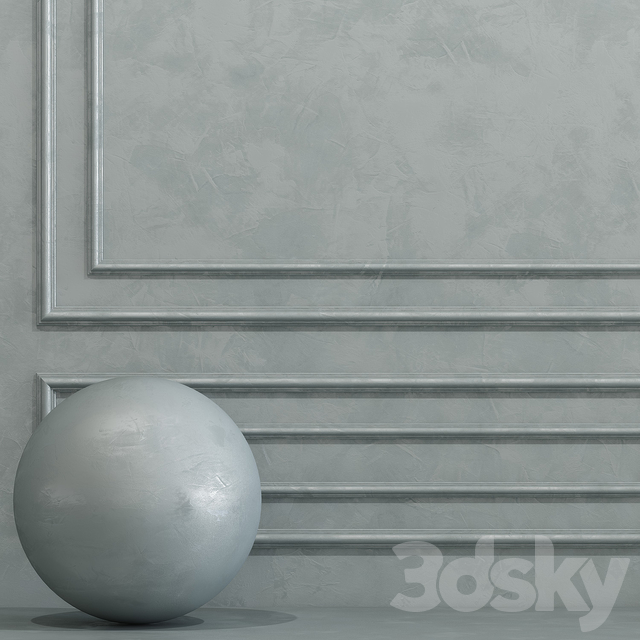 Decorative plaster with molding 7
