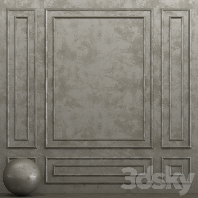 Decorative plaster with molding 9
