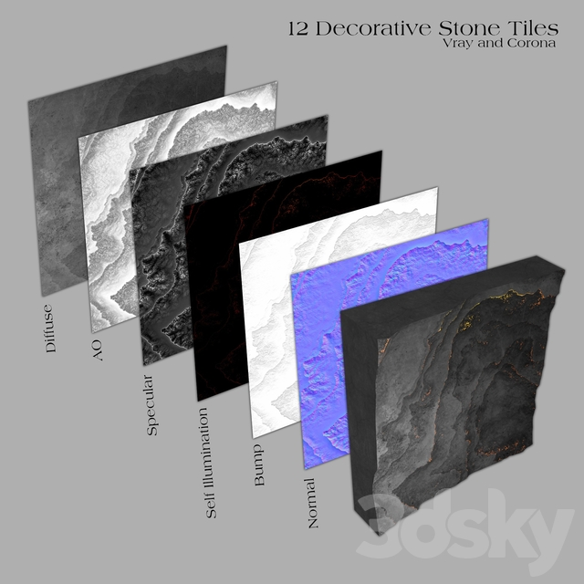 6 Decorative Stone Tiles _ Part A