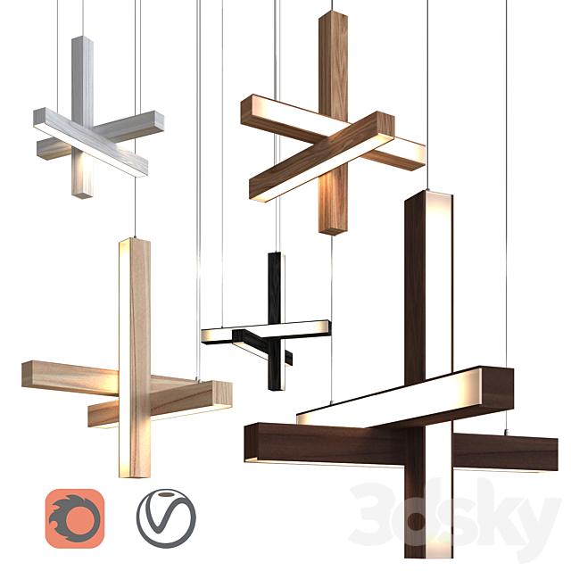 "Pendant lamp Led40 ""Cross"" Pendant by TUNTO Lighting"