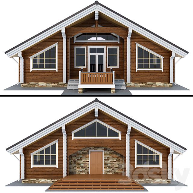 House of glued beams
