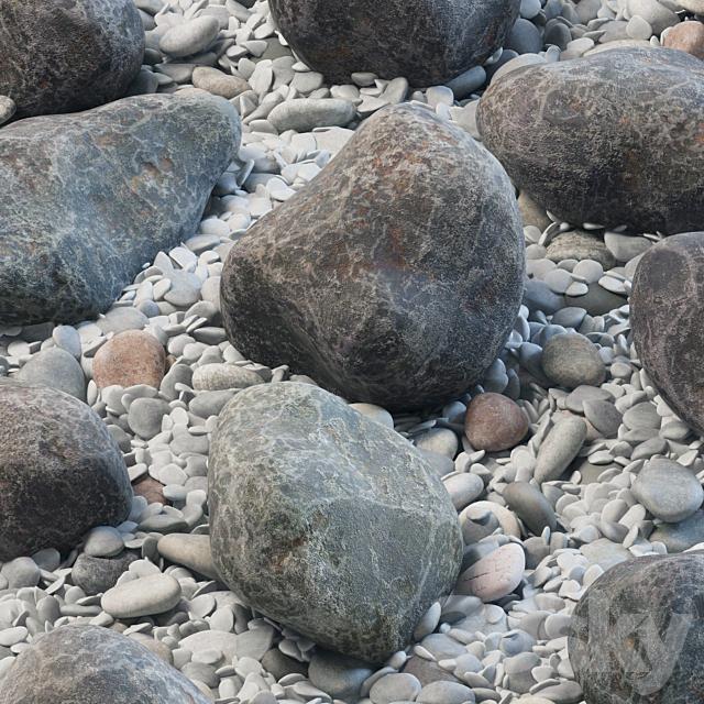 Square street pebble and stone big n1