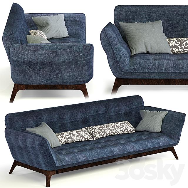 3d Models Sofa Roche Bobois Parcours, Roche Bois Furniture