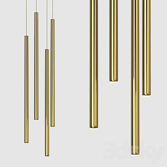 Forstlight Slim One Brass Pendant Lamp