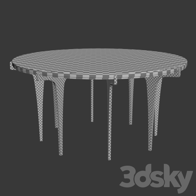 Prong round coffee table