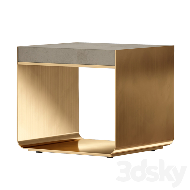 Dexter Concrete Top End Table (Crate and Barrel)