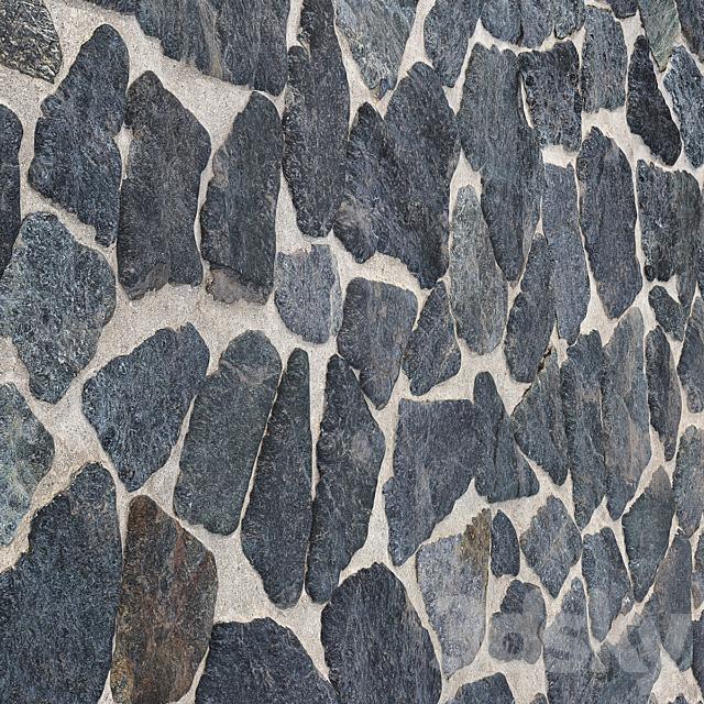 Cobblestone Wall Floor 05- 7K High Resolution Tileable