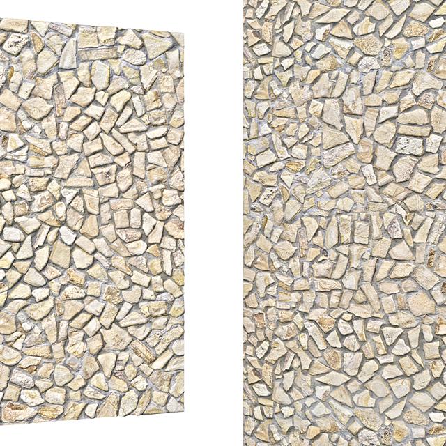 Cobblestone Wall Floor 08-6K High Resolution Tileable Textures Corona & Vray