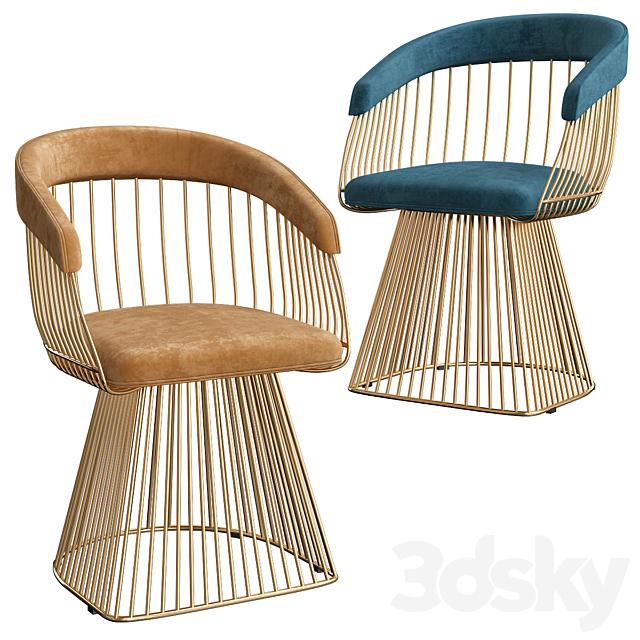 3d models: Chair - Salone Sedia Pouf - Sedie Soggiorno