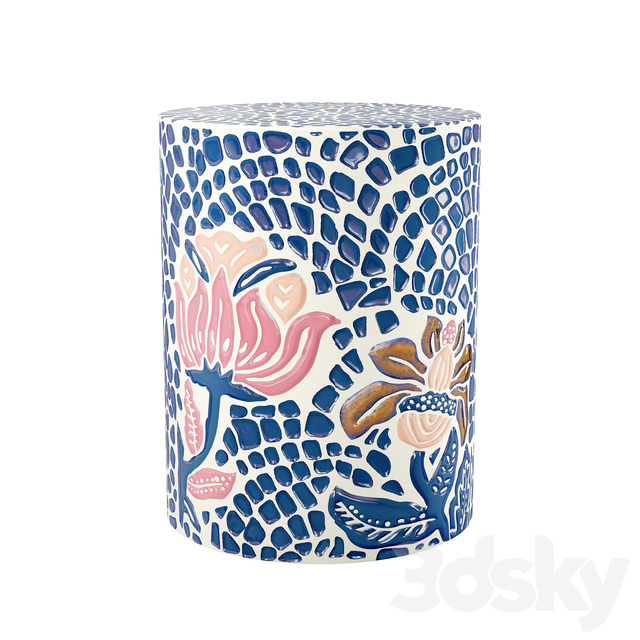 Anthropologie Mosaic Stool