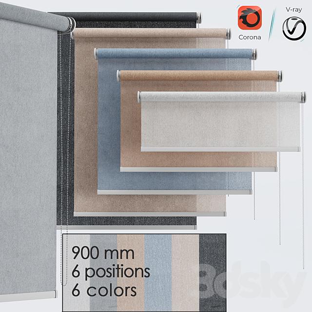 roller blind set | 6 colors