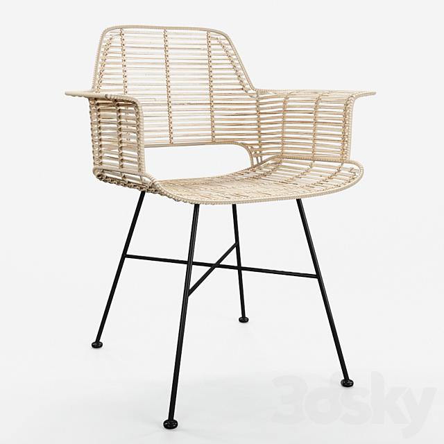 HKLiving Rattan Tub Chair - Natural + Black version