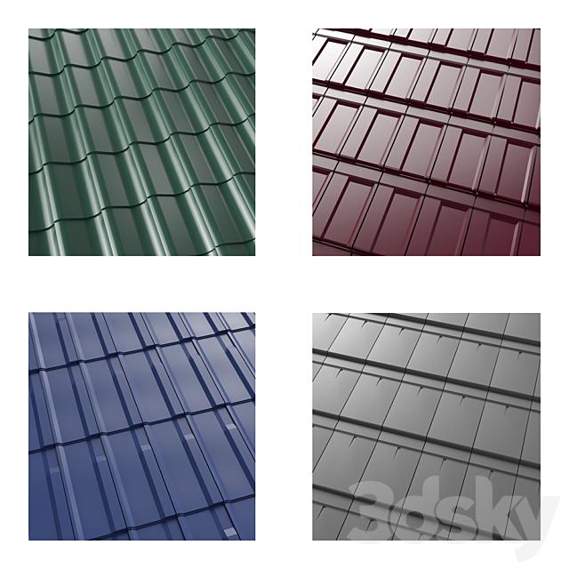 Low poly metal tile