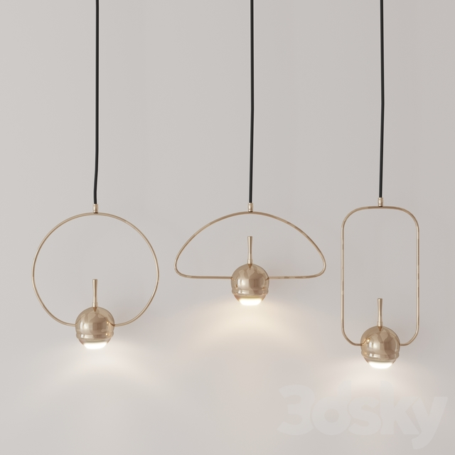 Tollo GOLD pendant chandelier series