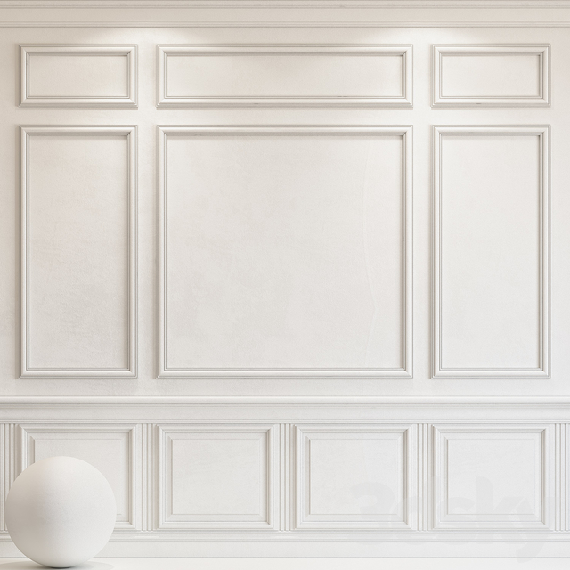 Decorative plaster with molding 61