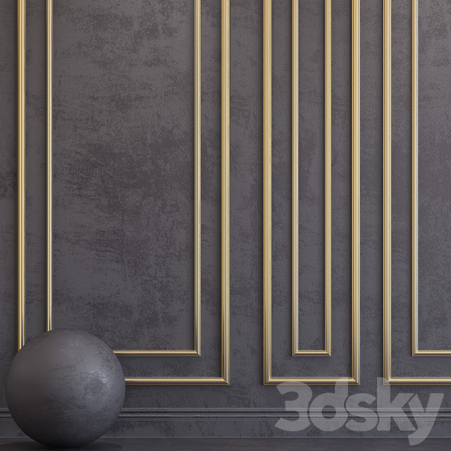Decorative plaster with molding 63
