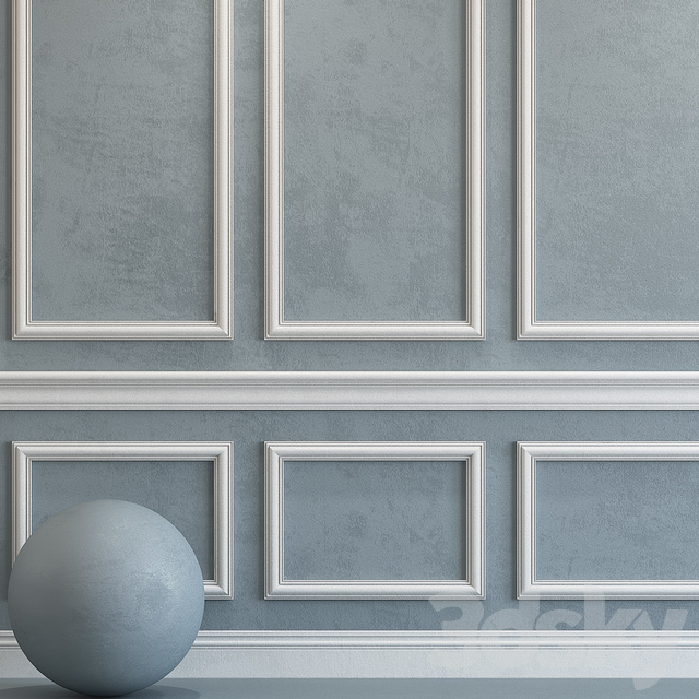 Decorative plaster with molding 77