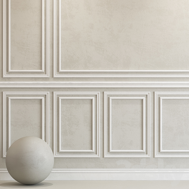 Decorative plaster with molding 79