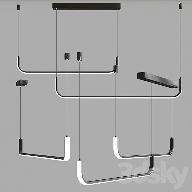 simple led chandelier