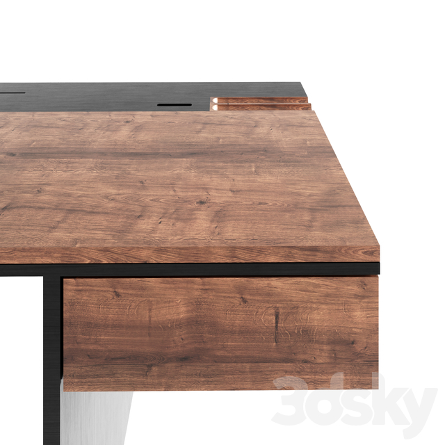 WRITING WOODEN TABLE BLACK 160 CM IAC