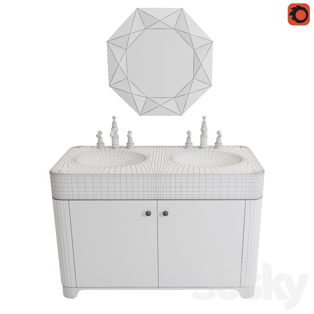 Cabinet with sinks Arcade ARC11M