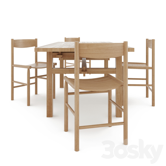 nikari arkipelago table & nikari academia chair