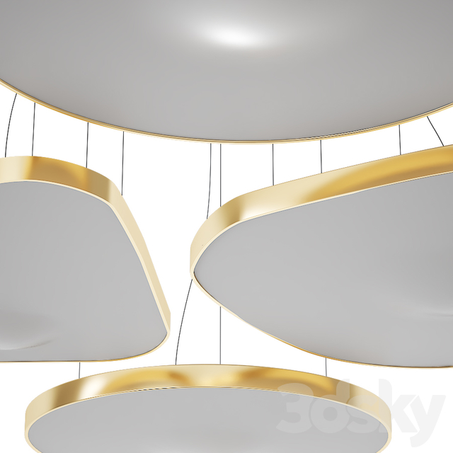 LED fabric pendant lamp PÉTALE