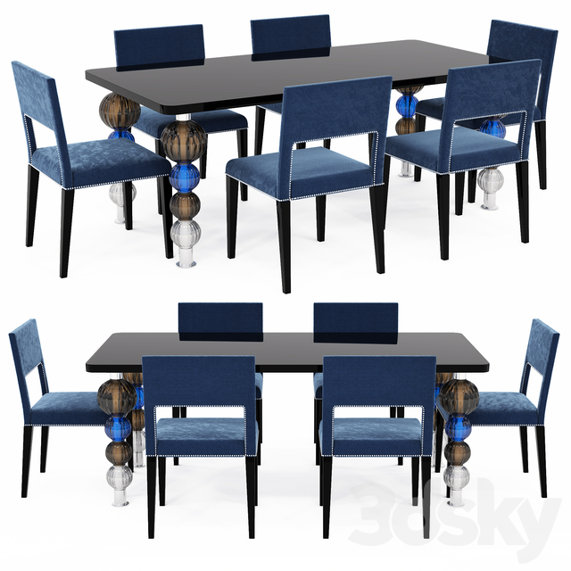 Table and chairs COSTANTINI PIETRO