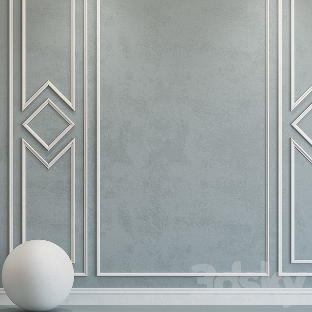 Decorative plaster with molding 87