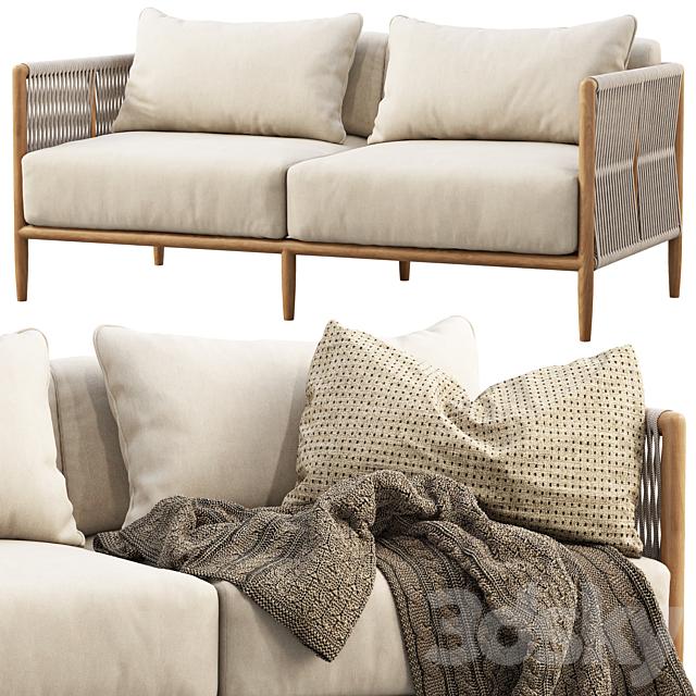 Brown Jordan Maldives Loveseat Sofa