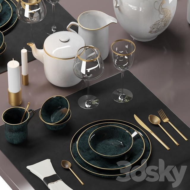 Luxury Table setting (Corona version)
