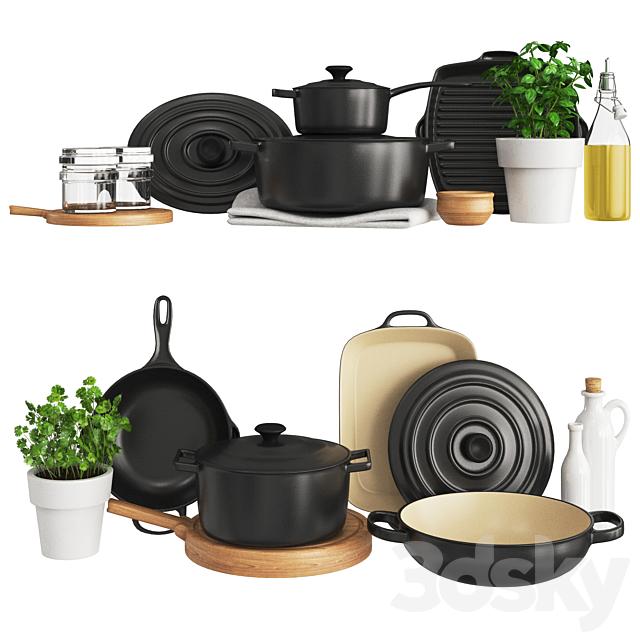 3d Models Other Kitchen Accessories Black Kitchen Set