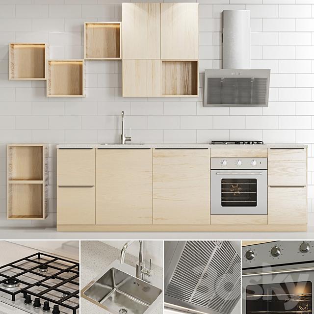 3d Models Kitchen Ikea Kitchen Series Askersund Method 1