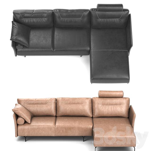Tenore Corner Sofa by Natuzzi