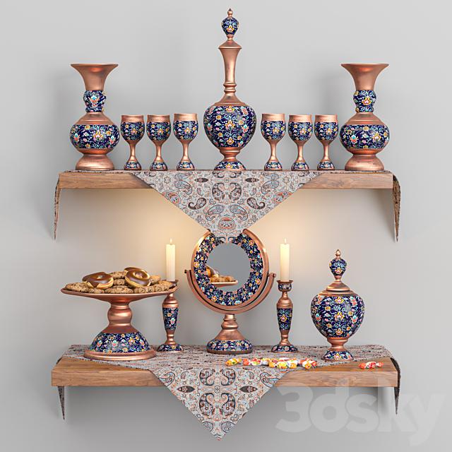Enamel decoration set