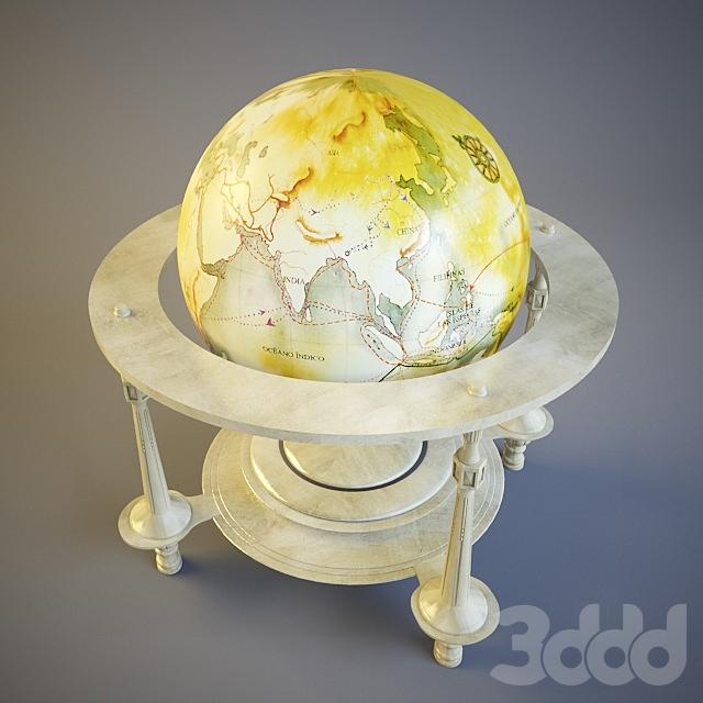 Старинный глобус