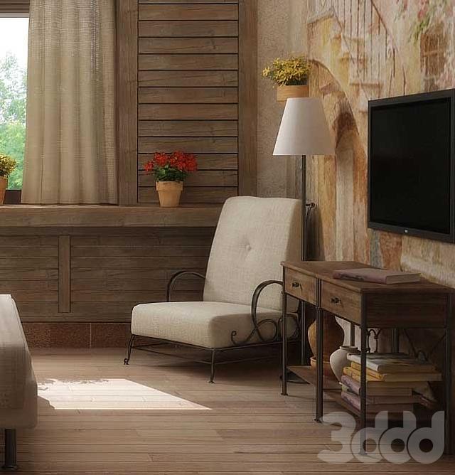 кресло с ковкой