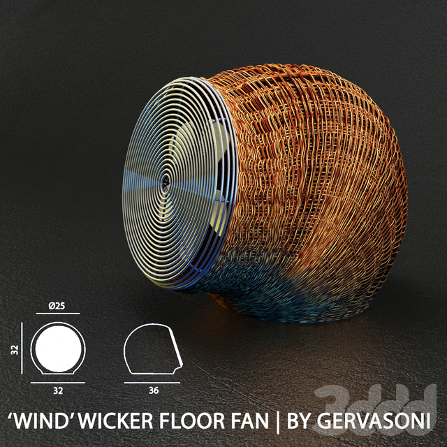 Rattan  Fan by Gervasoni