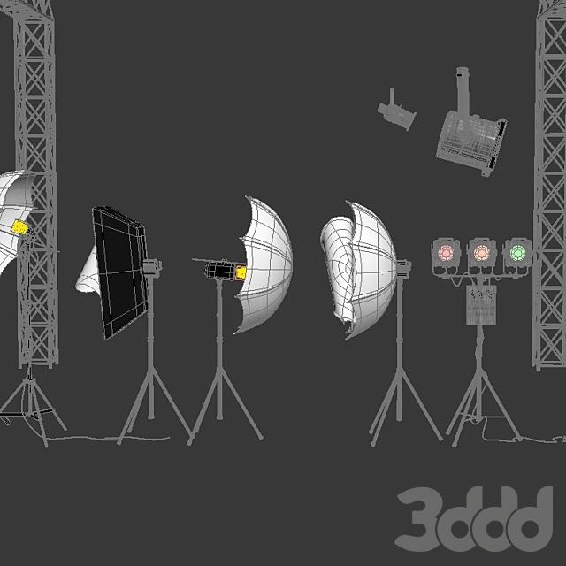 Проф. освещение для фотостудий + муз. аксесуары