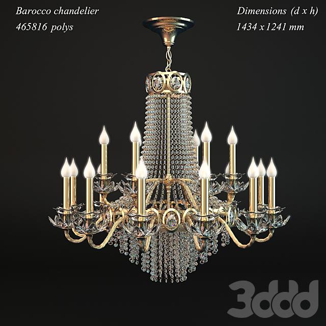 Classic barocco chandelier