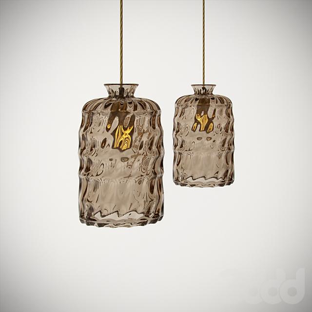 Ebb And Flow Pillar  Lamp Golden Smoke